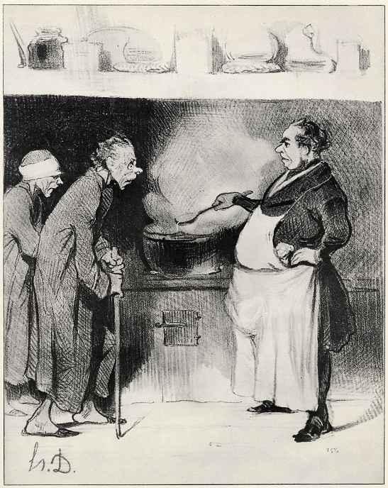 Оноре Домье. Народная кухня