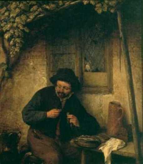 Adrian Jans van Ostade. A lover of herring