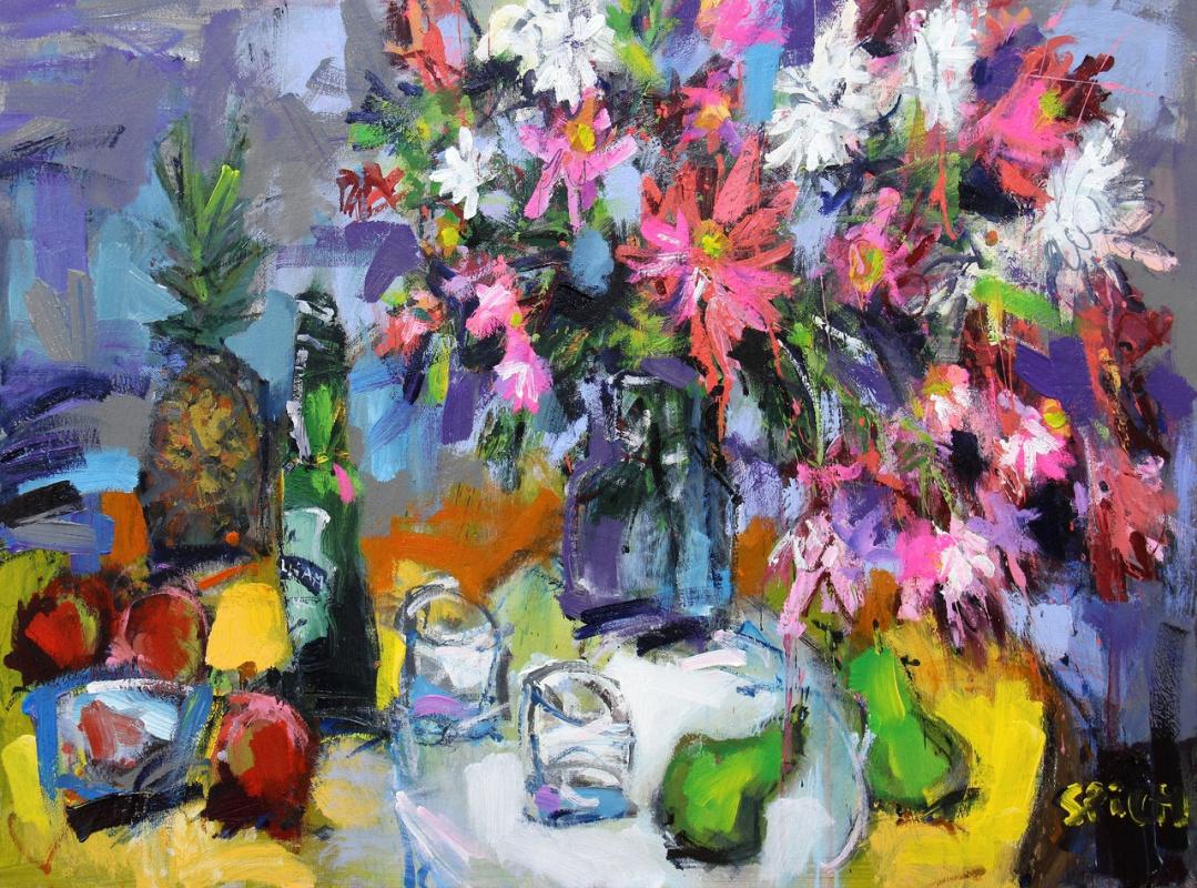 Ilya Pavlovich Spichenkov. Flowers and Pineapple