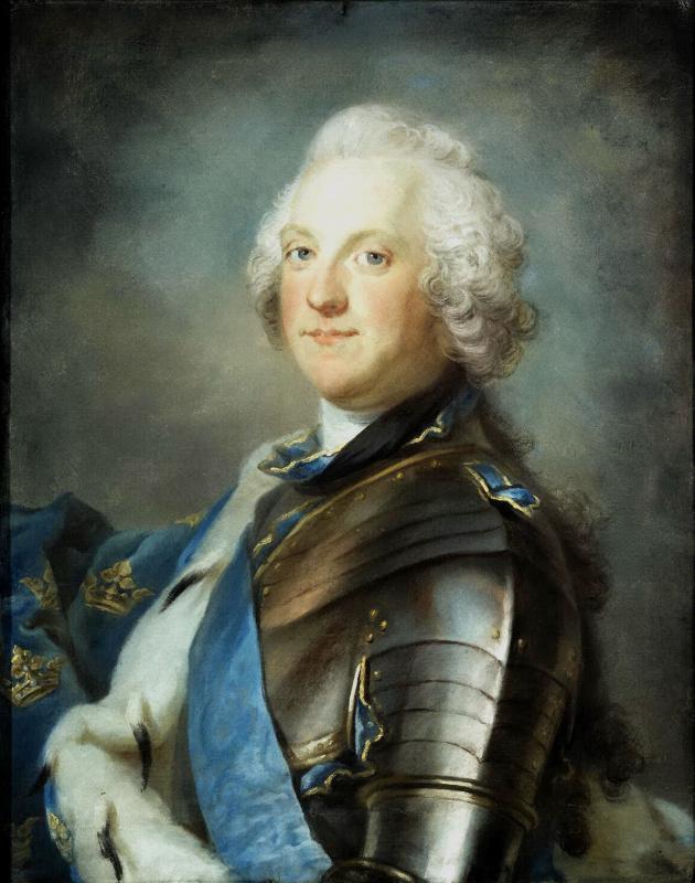 Густав Лундберг. Портрет шведского короля Адольфа Фредерика