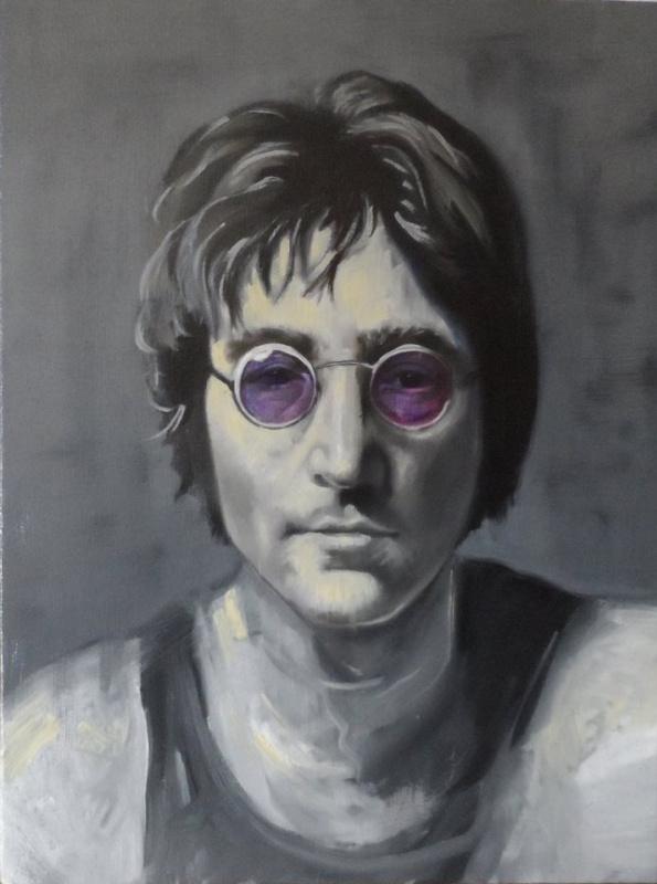 "Александр Гизя-Чобану. Портрет ""Джон Леннон"""