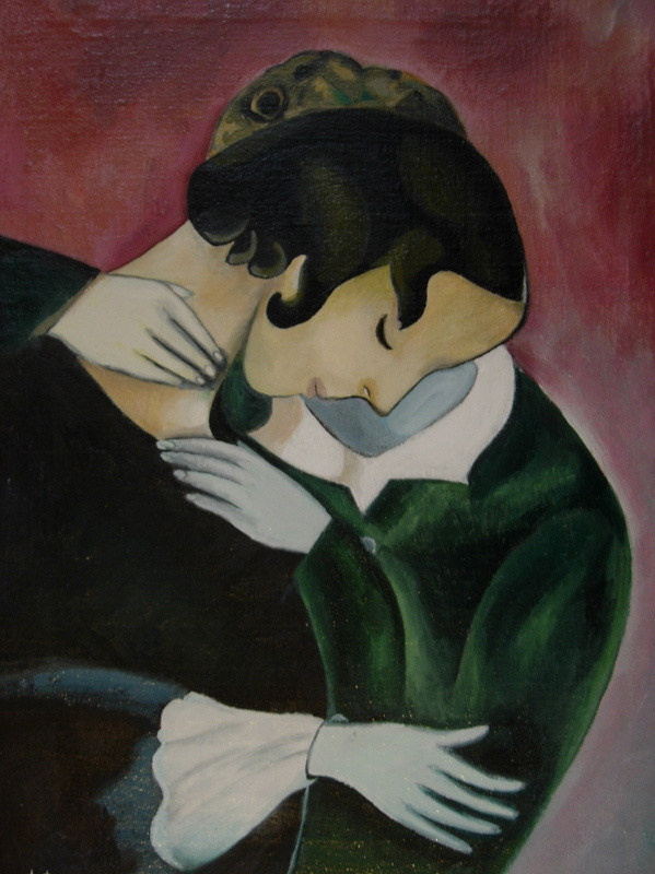 Marc Chagall. Pink lovers