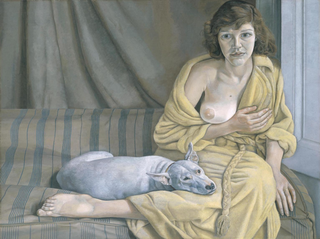 Lucien Freud. Girl with a white dog