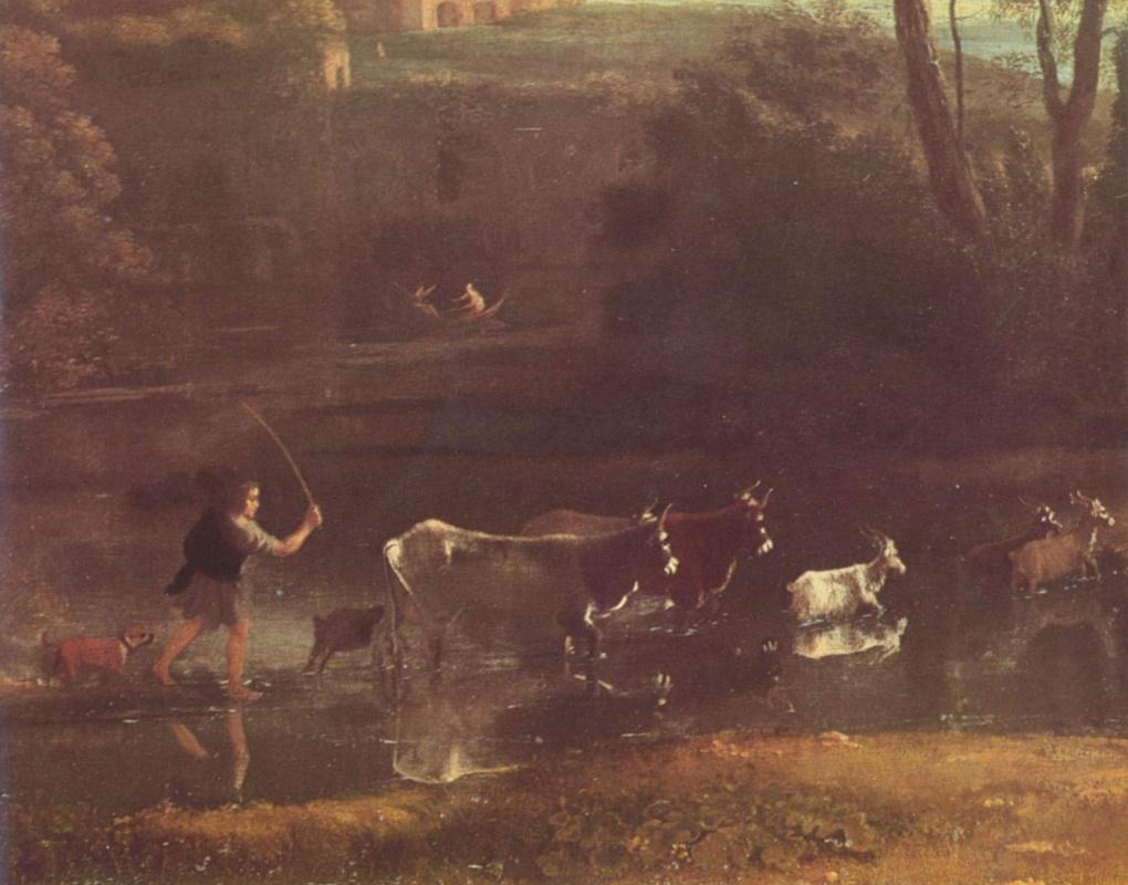 Клод Лоррен. Вилла в римской Кампанье, фрагмент