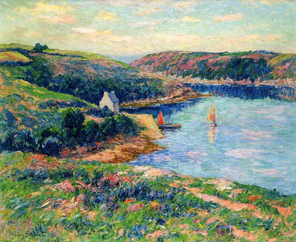 Henry Moret. The river bélon