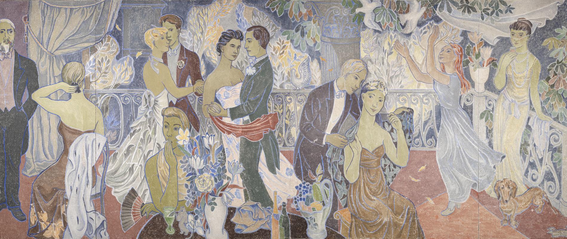 Туве Янссон. Праздник в городе. Роспись здания мэрии города Хельсинки