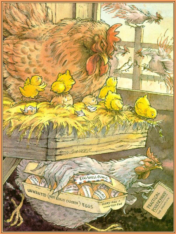 Норманд Шартье. Курица и яйца