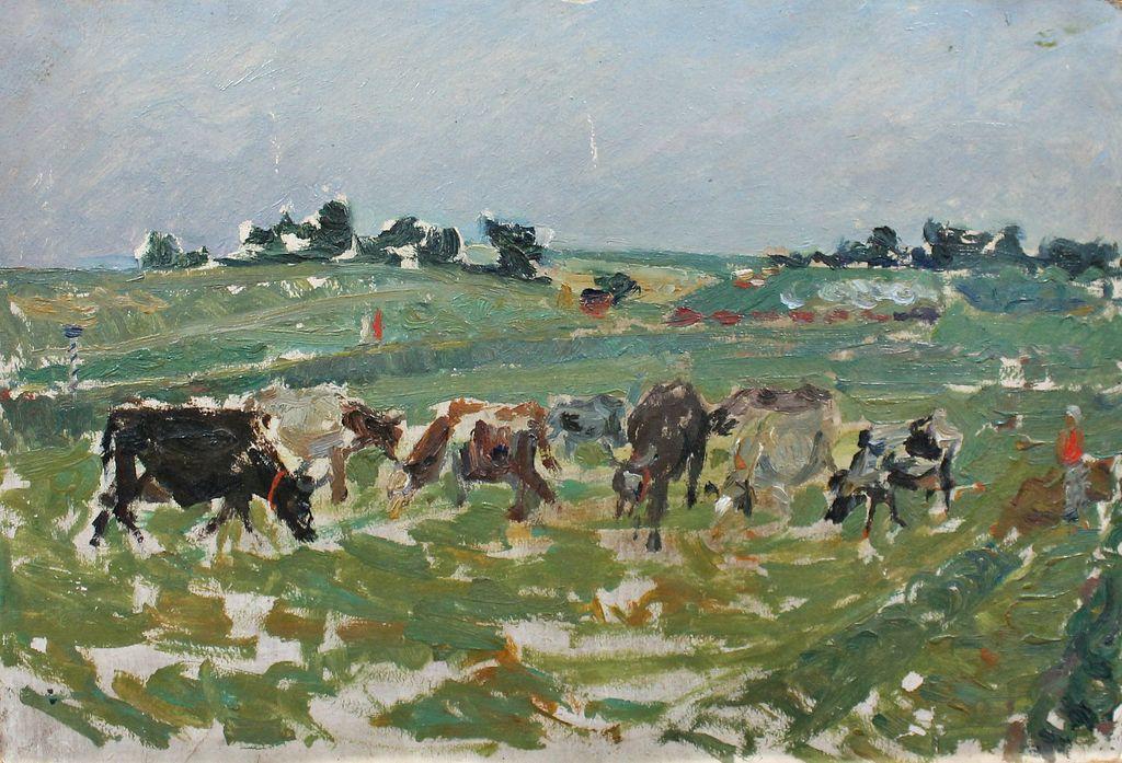 Leo Nikolayevich Orekhov. Herd. Evening
