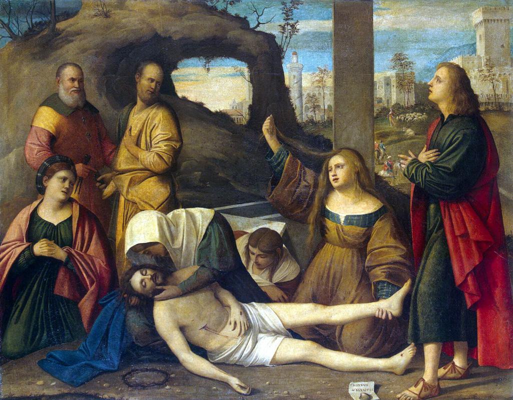 Марко Базаити. Оплакивание Христа