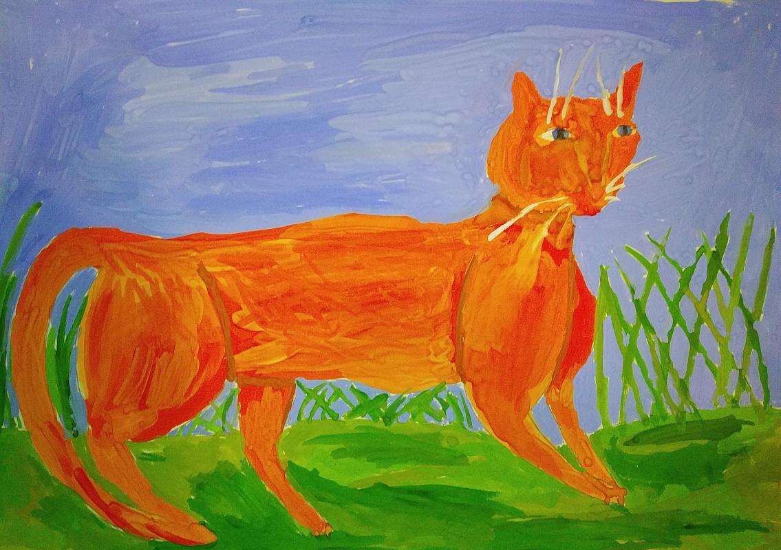 Zina Vladimirovna Parisva. Red Cat
