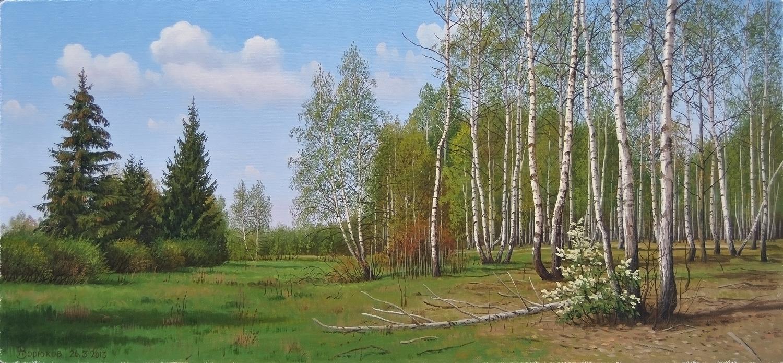 Alexander Vasilyevich Zoryukov. Bird cherry bush ...