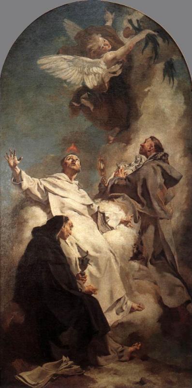 Джованни Баттиста Пьяццетта. Три доминиканских святых