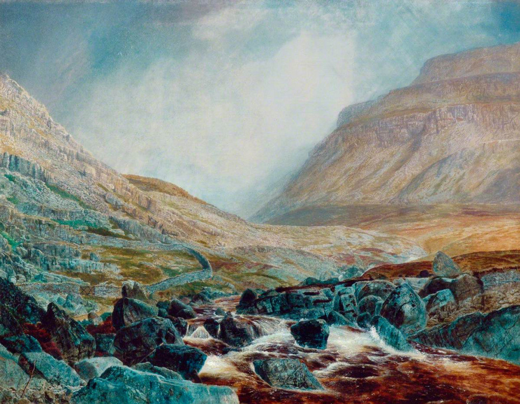 John Atkinson Grimshaw. White Scar, Yorkshire Limestone Plateau