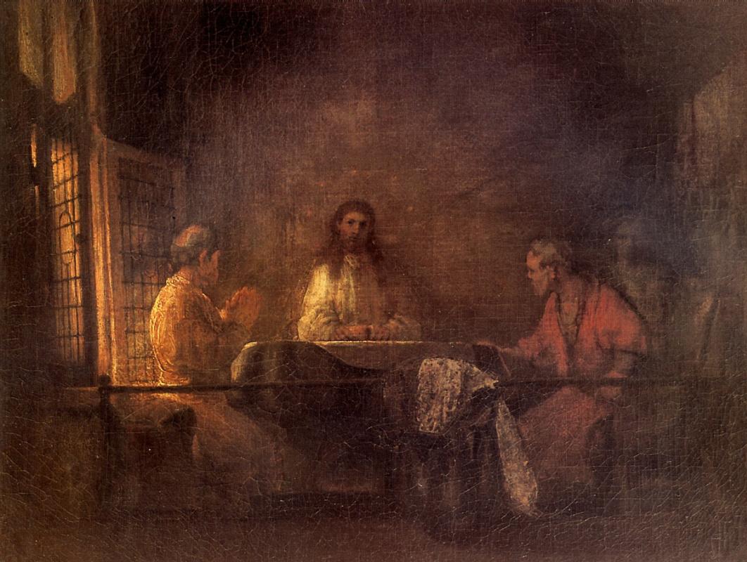 Rembrandt Harmenszoon van Rijn. The pilgrims at Emmaus