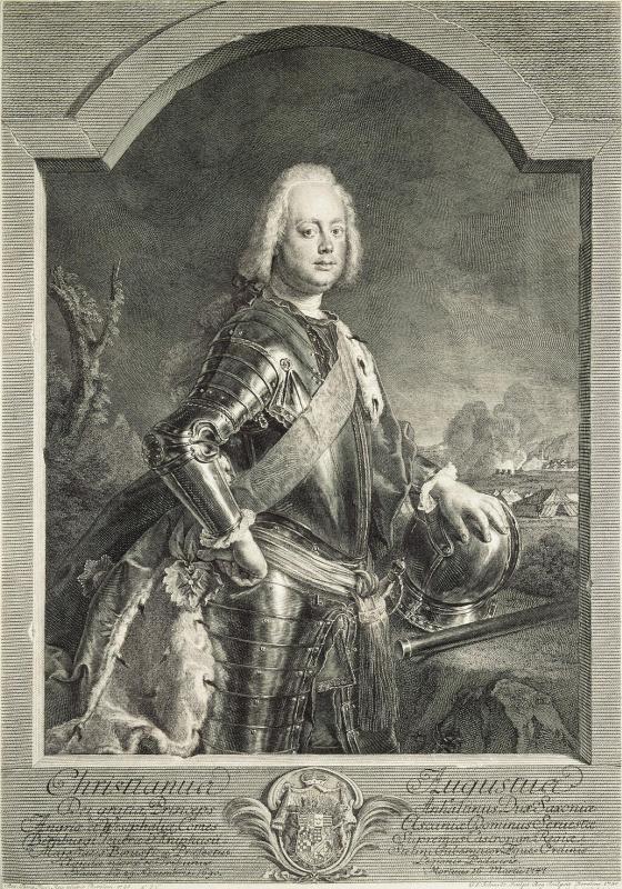 Georg Friedrich Schmidt. Portrait of Prince Christian August of Anhalt-Tserbskaya
