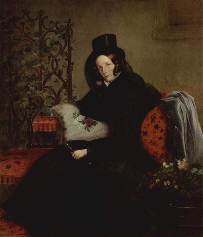 Франц Крюгер. Портрет Фредрики Луизы Шарлотты Вильгельмины, дочери Фридриха Вильгельма III
