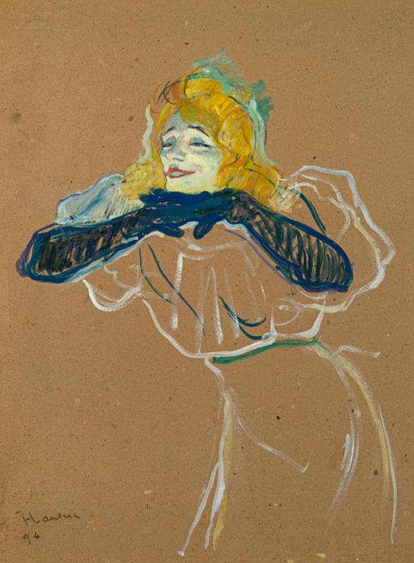 "Henri de Toulouse-Lautrec. Yvette Guilbert Singing ""Linger Longer Loo"""
