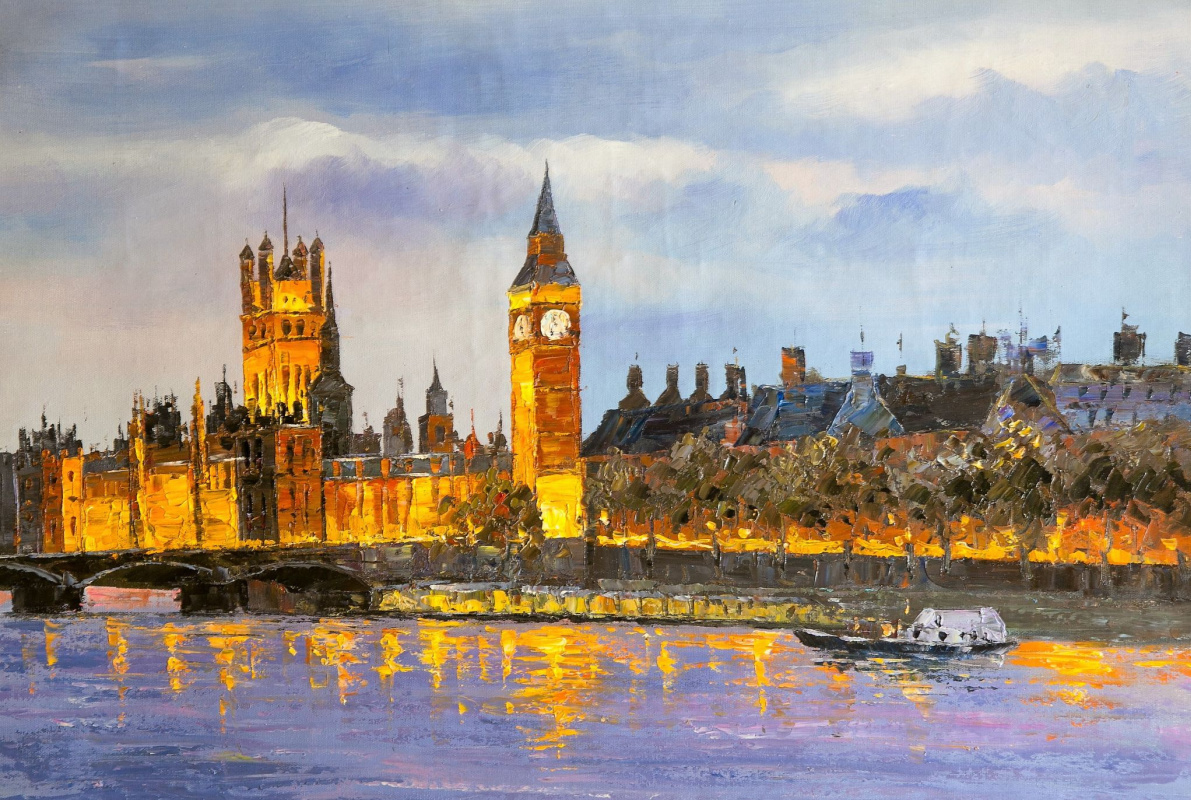 (no name). London. Palace of Westminster from Thames