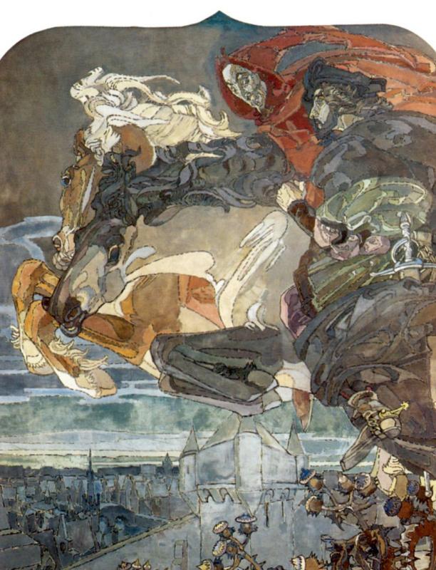 Михаил Александрович Врубель. Полет Фауста и Мефистофеля