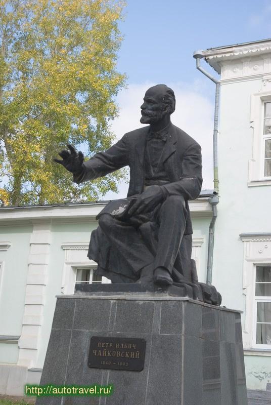 Василий Михайлович Ушаков. Памятник П.И. Чайковскому. Алапаевск, Свердловская область