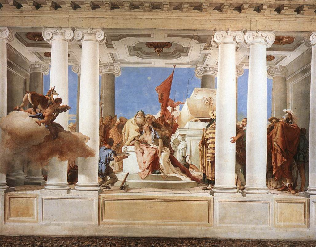 Giovanni Battista Tiepolo. Iphigenia Sacrifice