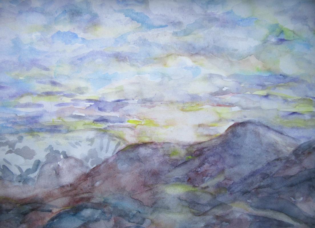 Natasha Chubarova. The Khibiny mountains, evening