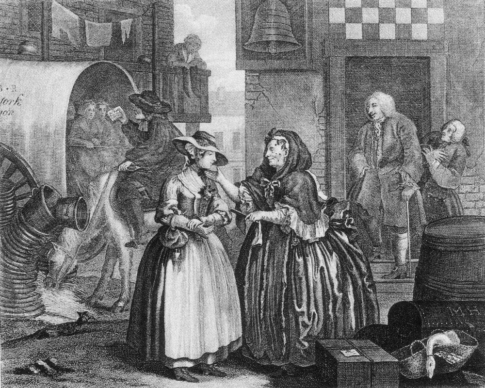 William Hogarth. Career prostitutes. Trapped the summary