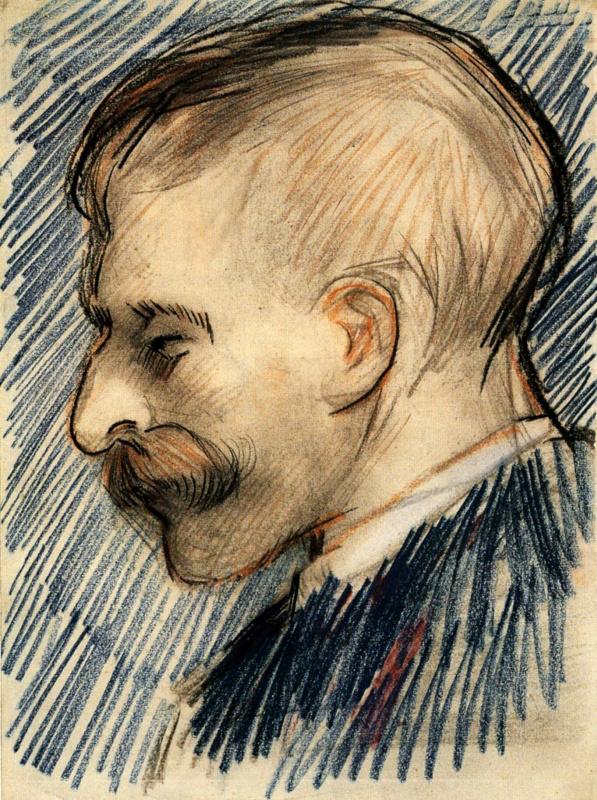 Винсент Ван Гог. Голова мужчины (возможно, Тео Ван Гог)