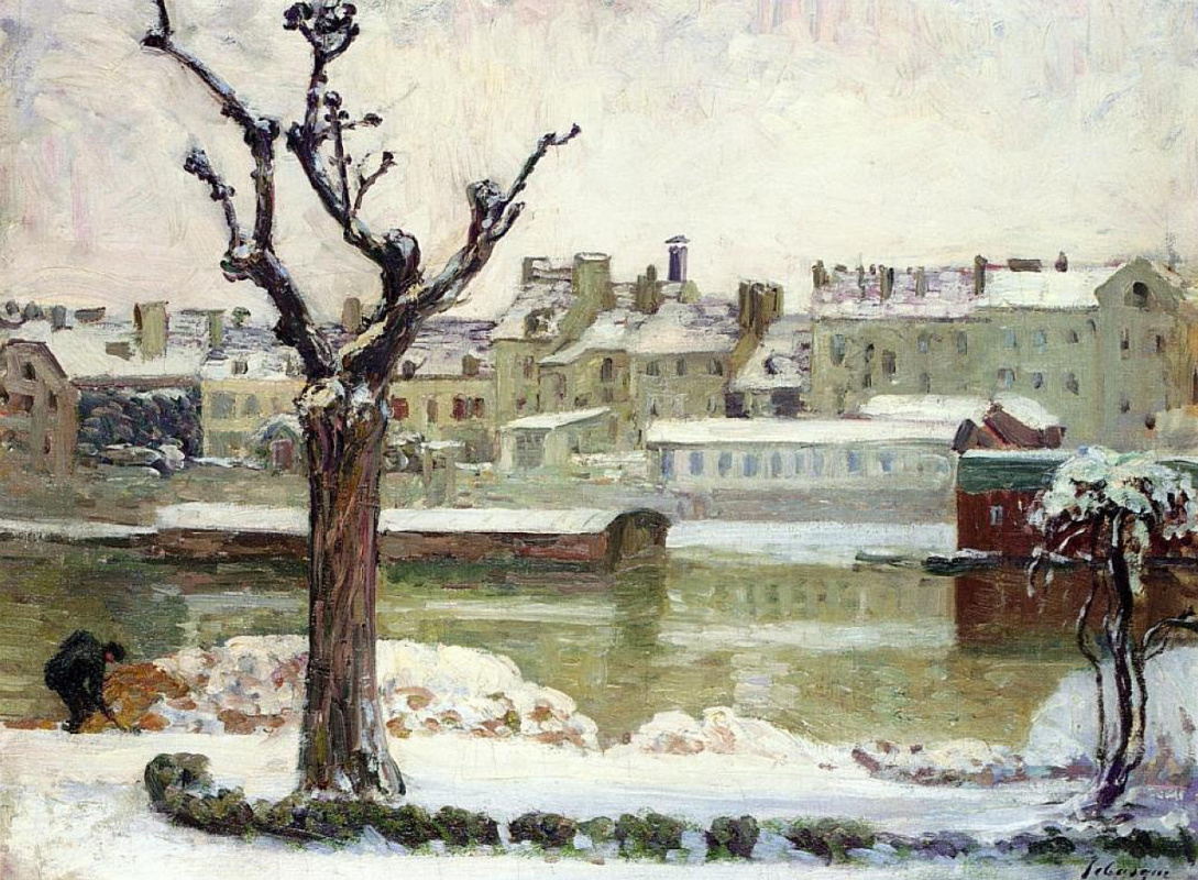 Анри Лебаск. Зима в Лани