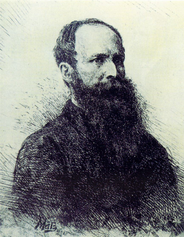 Василий Васильевич Матэ. Портрет В. В. Верещагина