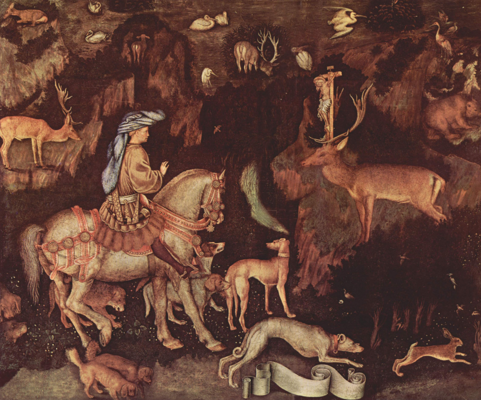 Antonio Pisanello. The vision of St. Eustace