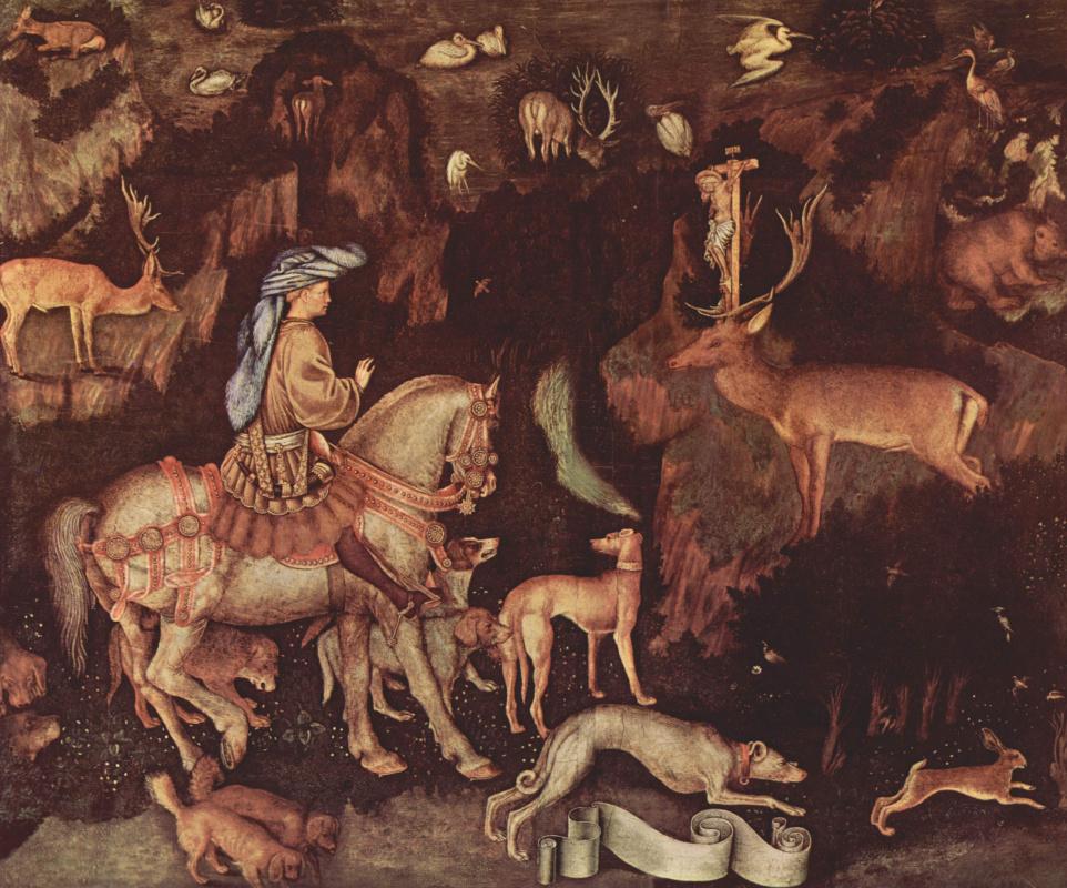 Antonio Pisanello. The vision of St. Eustace