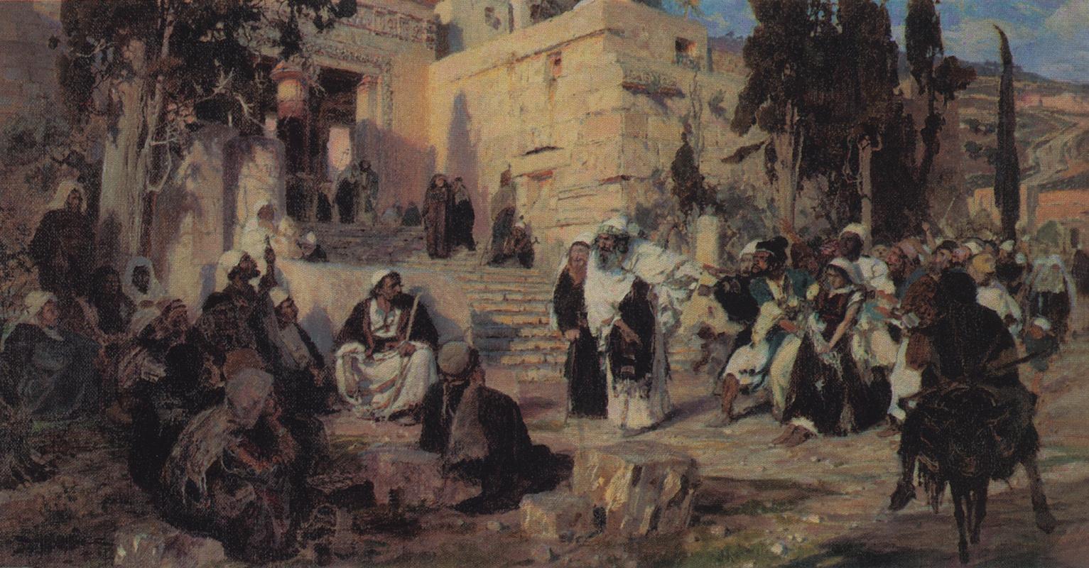 Vasily Polenov. Christ and the sinner. Sketch