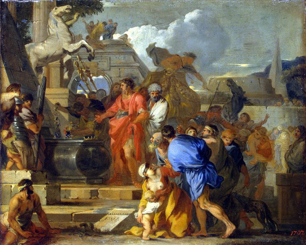 Себастьян Бурдон. Август перед гробницей Александра Македонского