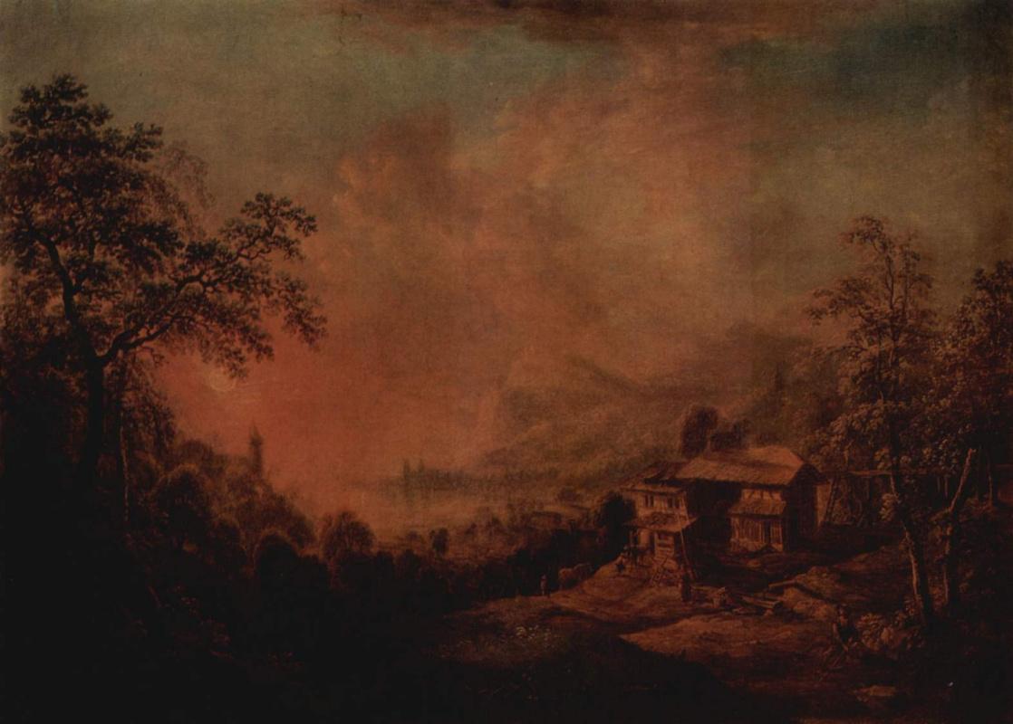 Христиан Георг Шютц. Пейзаж с озером