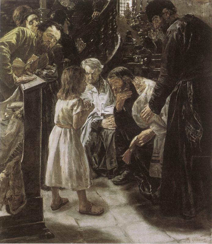 Макс Либерман. Двенадцатилетний Иисус в храме