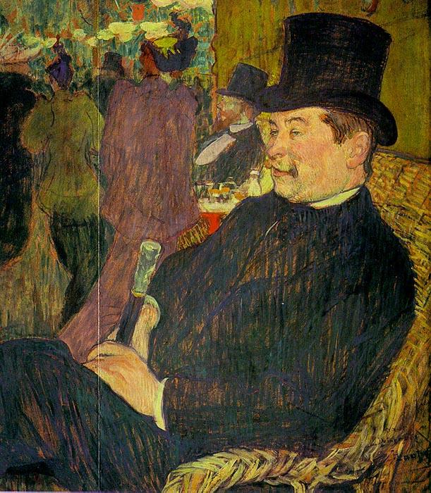 Анри де Тулуз-Лотрек. Портрет месье Делапорте в Жарден