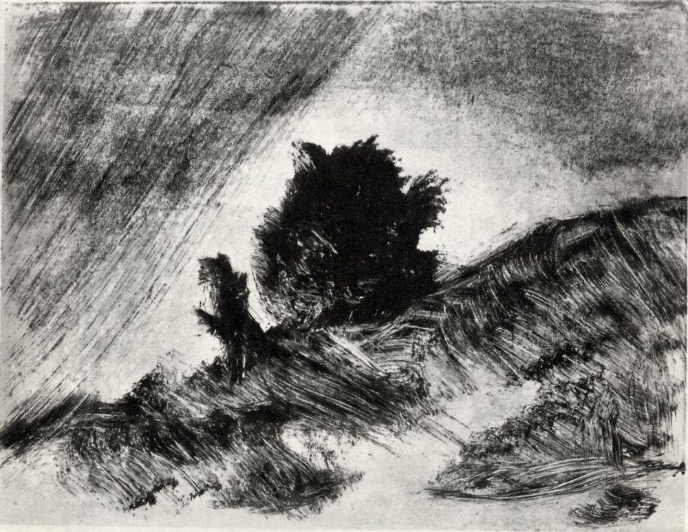 Edgar Degas. Landscape