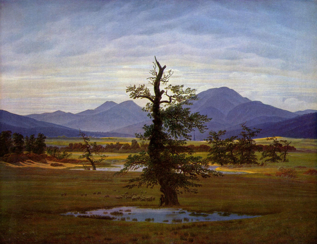 Caspar David Friedrich. Lonely tree