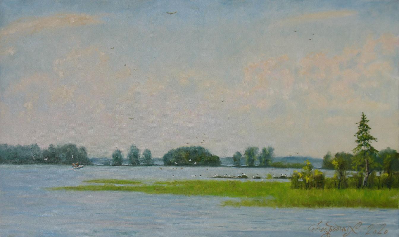 Alexander Nikolaevich Bezrodny. Lake. Islands