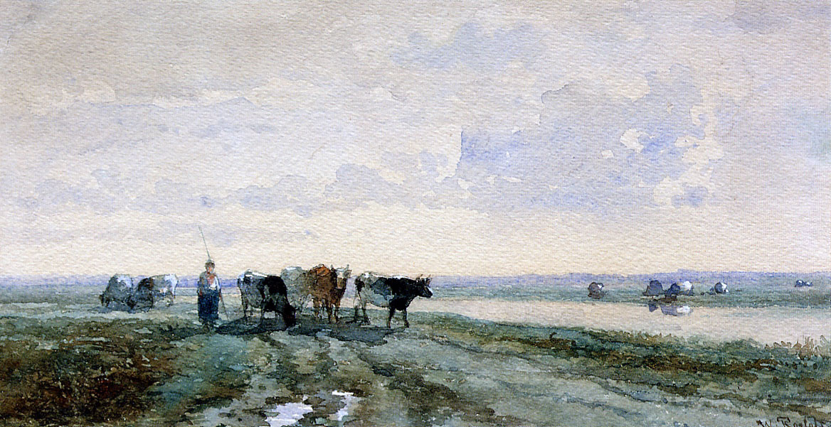Willem Rulofs. The shepherd near the canal