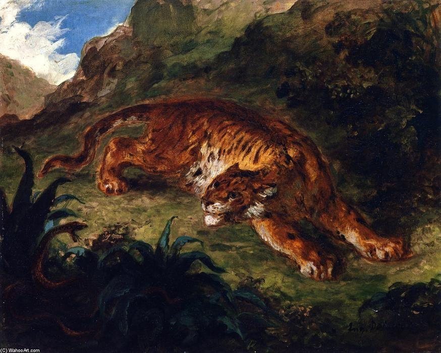 Eugene Delacroix. Tiger and snake