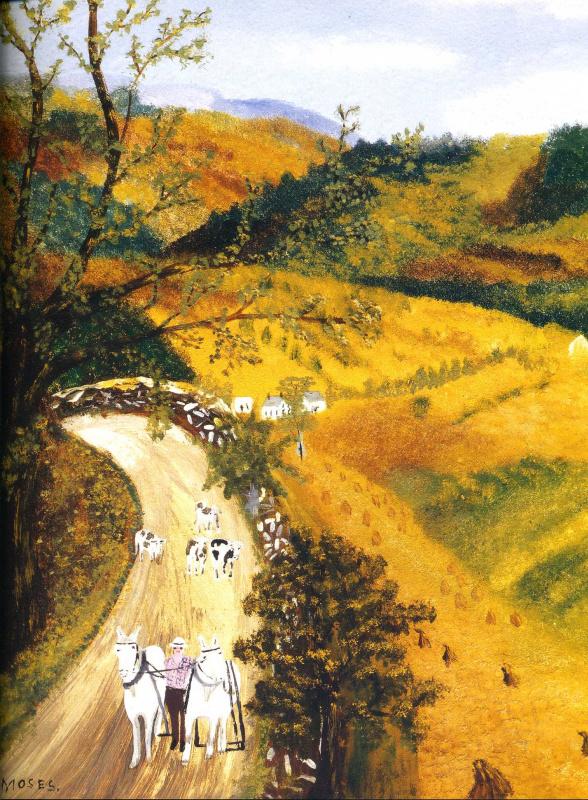 Бабушка (Анна Мэри) Мозес. Осенние поля
