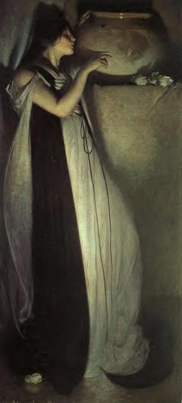 Джон Уайт Александер. Изабелла и горшок с базиликом