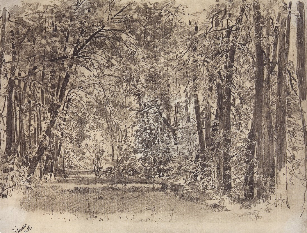 Ivan Shishkin. Alley in the old Park