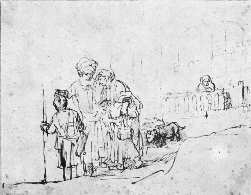 Рембрандт Харменс ван Рейн. Изгнание Агари