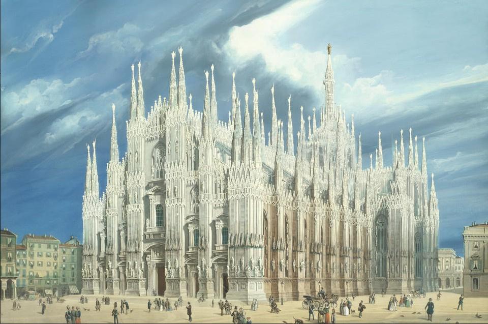 Неизвестный  художник. Миланский собор