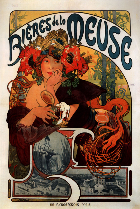 """Poster """"Beer of the Meuse"""""""