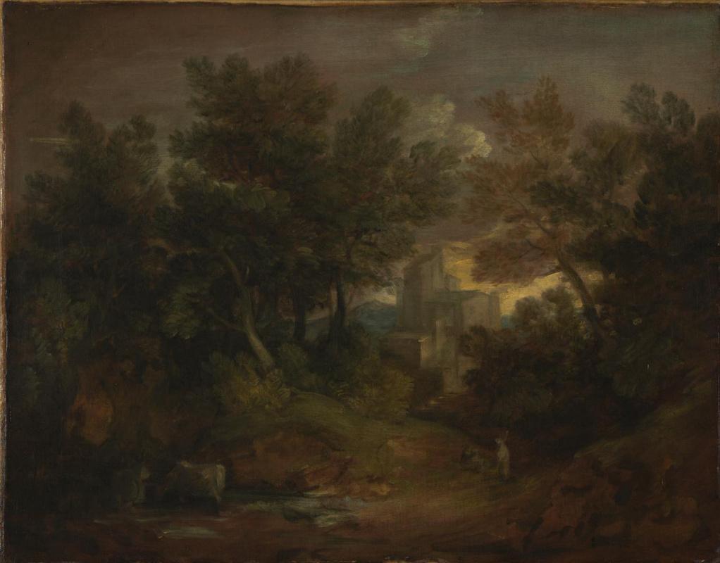 Thomas Gainsborough. Wooded landscape with castle