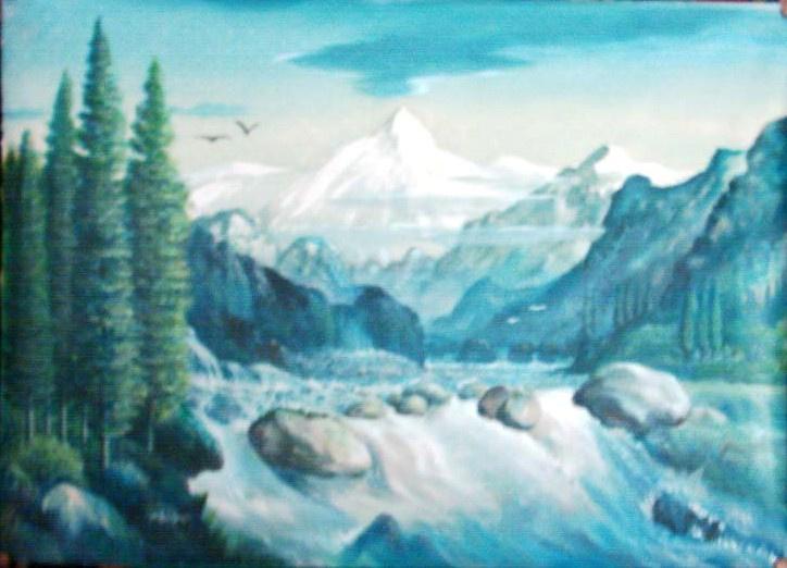 AbdulSalam. Mountain River